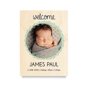 Welcome (Boy) Newborn Print