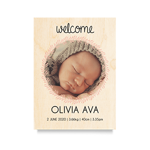 Welcome (Girl) Newborn Print