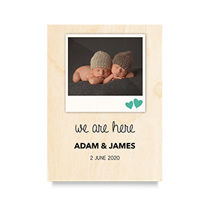 We are here Newborn Print