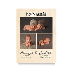Hello World Newborn Print 2