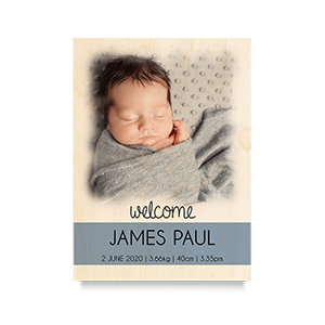 Welcome (Blue) Newborn Print