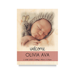 Welcome (Blush) Newborn Print