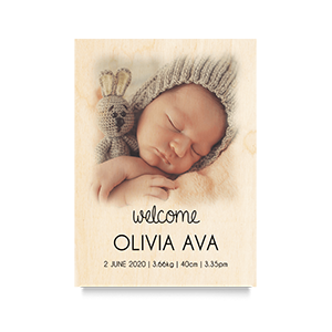 Welcome (Fade) Newborn Print