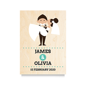 Carry Bride (Names) Wedding Print