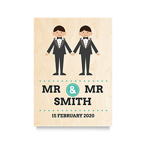 Holding Hands (Mr & Mr) Wedding Print