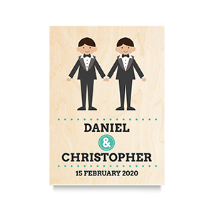 Holding Hands (Names) Wedding Print