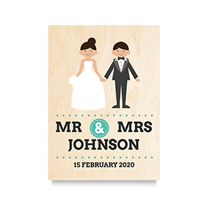 Happy (Mr & Mrs) Wedding Print
