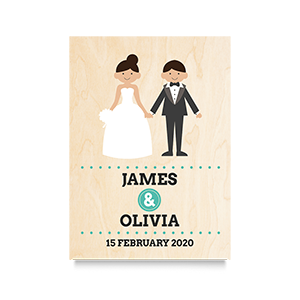 Happy (Names) Wedding Print