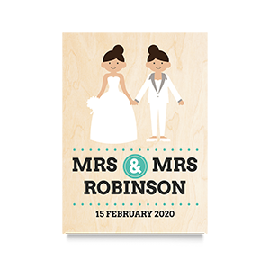 Happy (Mrs & Mrs) Wedding Print