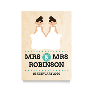 Happy (Mrs & Mrs) Wedding Print 2
