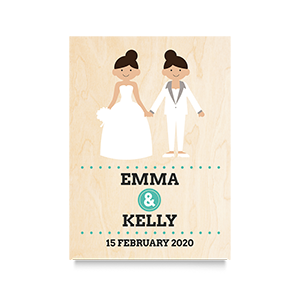 Happy (Mrs & Mrs Names) Wedding Print