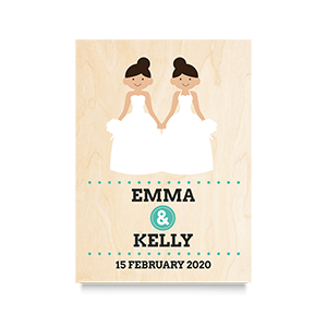 Happy (Mrs & Mrs Names) Wedding Print 2