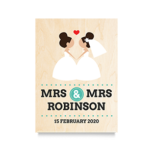 I do  (Mrs & Mrs) Wedding Print 2