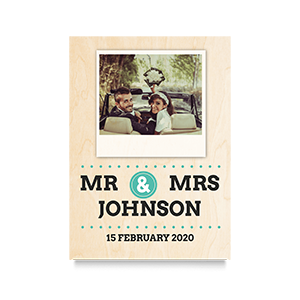 Polaroid (Mr & Mrs) Wedding Print