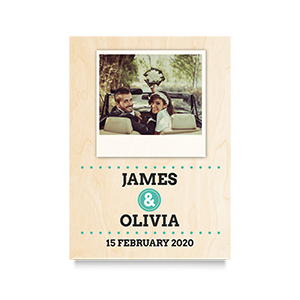 Polaroid (Names) Wedding Print