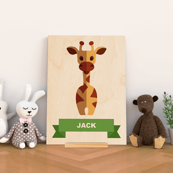 Wood Stand Animal Prints