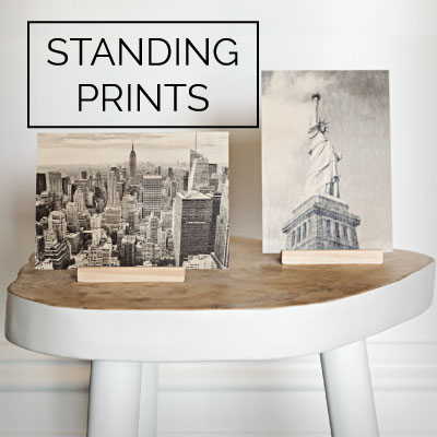 Wood Standing Prints