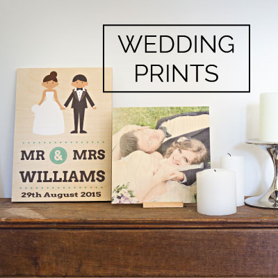 Wood Wedding Prints